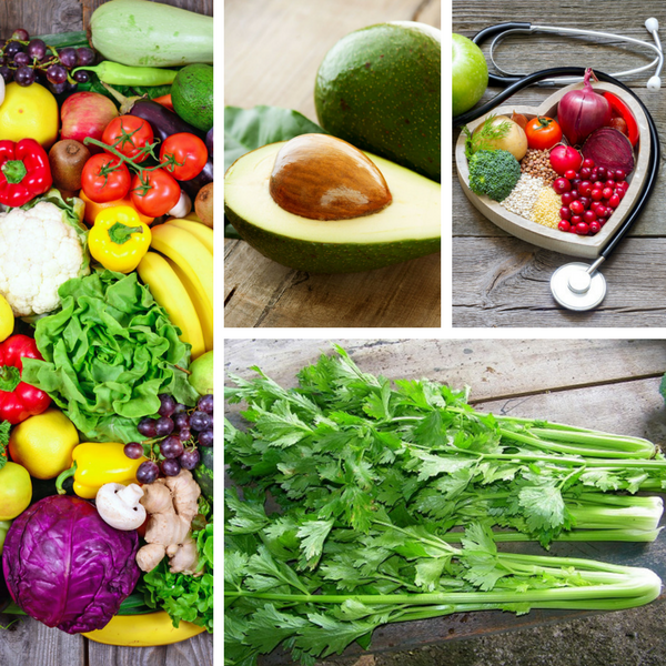zöldségek és gyümölcsök felállítása